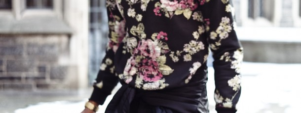 The Floral Sweatshirt | Street Style