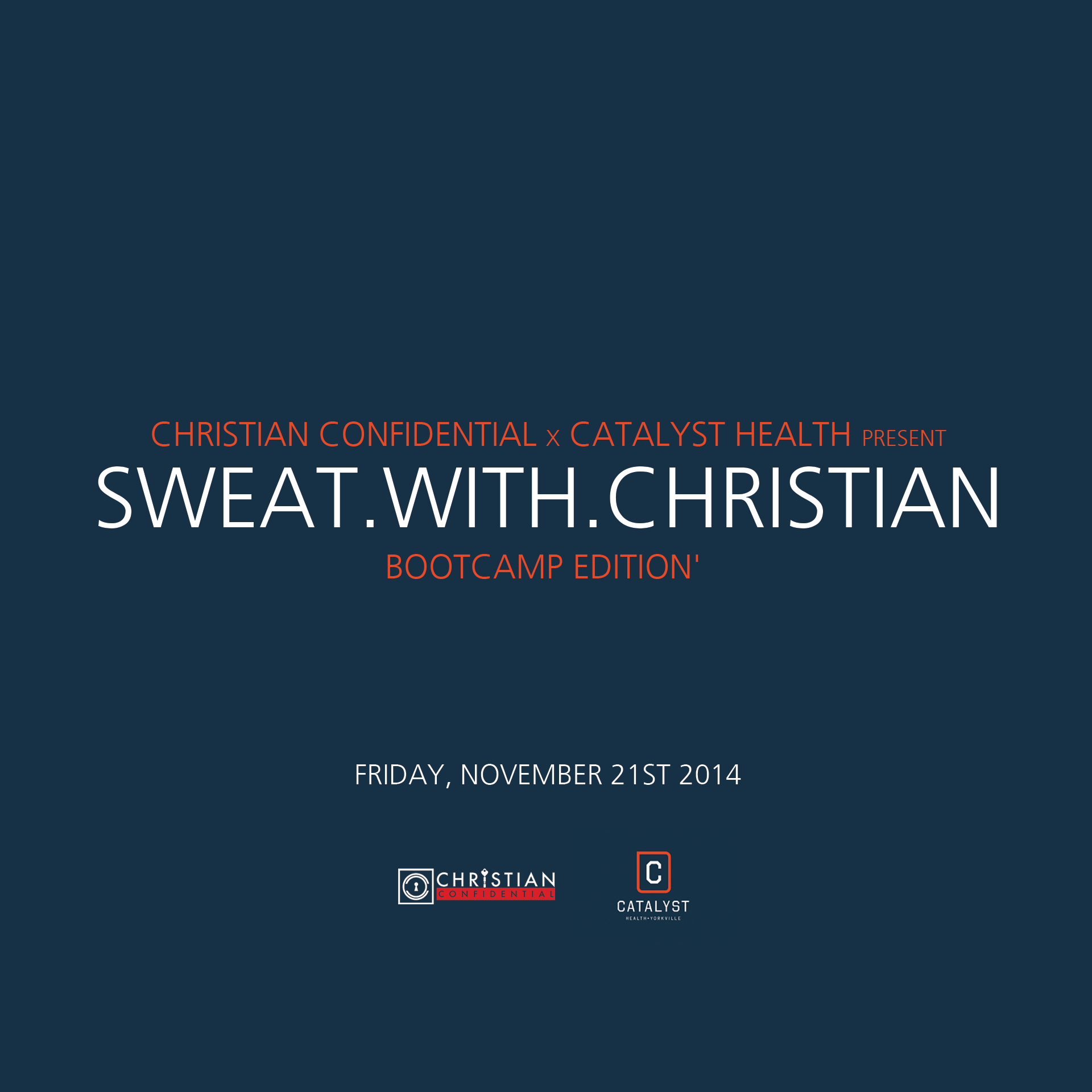 Sweat With Christian | Events